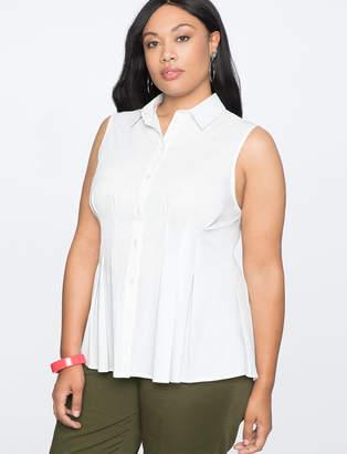 Sleeveless Pleated Shirt