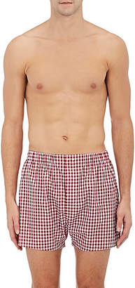 Barneys New York Men's Gingham Cotton Poplin Boxers $75 thestylecure.com