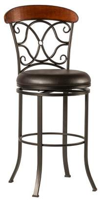 """Hillsdale Furniture 26"""" Dundee Swivel Counter Stool Coffee Brown"""