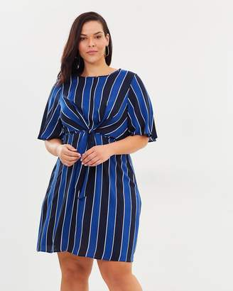 Stripe Manipulated Shift Dress
