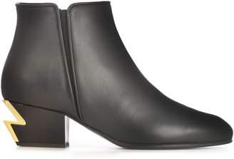 Giuseppe Zanotti Design Heel Lightning Boots
