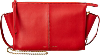 Celine Trifold Leather Chain Clutch Crossbody