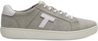 Toms Drizzle Grey Suede Mini Jersey Stripe Mix Mens Leandro Sneakers