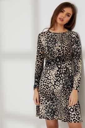 7b08a8b087a Next Womens Dorothy Perkins Animal Print Tie Front Dress