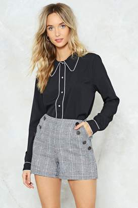 Nasty Gal Let's Cut This Check Shorts