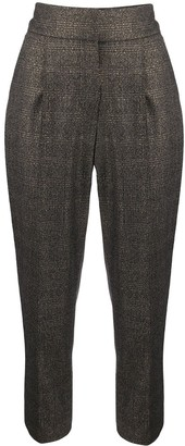 Brunello Cucinelli cropped plaid trousers