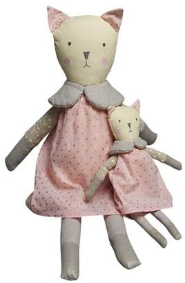 Cat with Pink Dress Rattle
