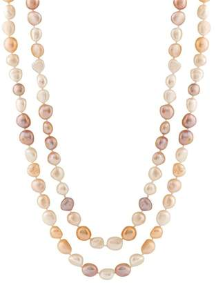 Splendid Pearls Endless Multicolor 9-10mm Freshwater Pearl Necklace
