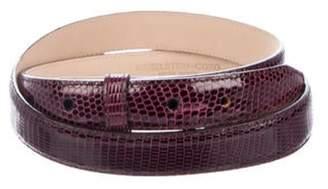 Kieselstein-Cord Lizard Belt Strap Purple Lizard Belt Strap