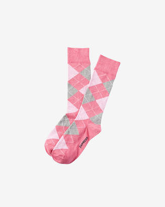 Express Heathered Argyle Dress Socks
