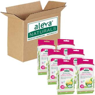 Aleva Naturals 180 Count Bamboo Baby Hand Face Wipes Economy Pack