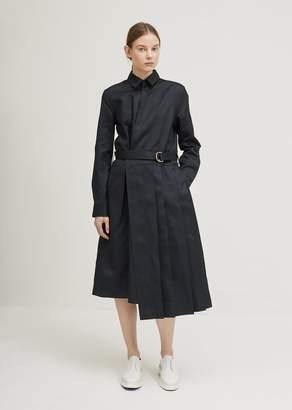 Jil Sander Emulation Belted Dress Dark Blue