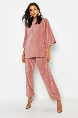 boohoo Tall Oversized Velour Tee