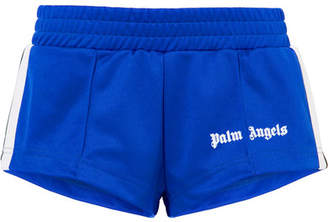 Palm Angels Striped Satin-jersey Shorts - Blue