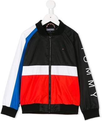 Tommy Hilfiger Junior zipped track jacket