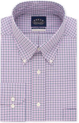 Eagle Men's Big Classic-Fit Stretch Collar Non-Iron Check Dress Shirt $74.50 thestylecure.com