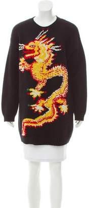 Valentino Drake Intarsia Sweater