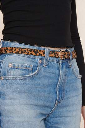 Garage Leopard Printed Belt