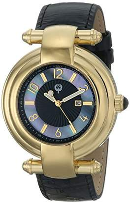 Brillier Women's 31-02 Klassique Analog Display Quartz Black Watch