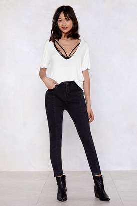 Nasty Gal Seam-Ing is Believing Mid-Rise Jeans