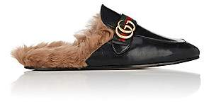 Gucci Men's New Princetown Leather Slippers - Black