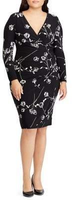 Lauren Ralph Lauren Plus Floral-Print Ruched Jersey Dress