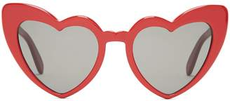 Saint Laurent Loulou heart-shaped acetate sunglasses