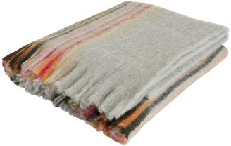 Aloisa Grey and multi-coloured striped wool-blend throw 130 x 170cm