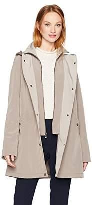 Jones New York Women's Hooded Inner Zip-up Bib Vestee Rain Topper