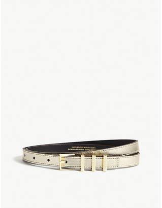 Sandro Ariane metallic leather belt