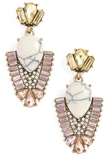 Women's Sole Society Crystal & Stone Drop Earrings
