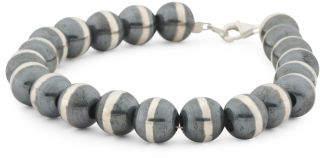 Men's Made In Mexico Sterling Silver Beaded Bracelet