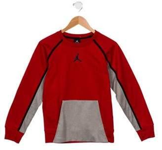 Jordan Boys' Crew Neck Logo Sweatshirt red Boys' Crew Neck Logo Sweatshirt