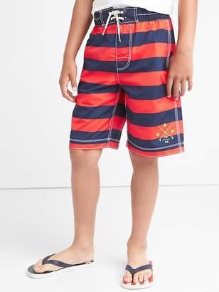 Logo stripe board shorts $29.95 thestylecure.com
