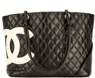 0261b38ce91f Chanel Black and White Quilted Leather Cambon Tote (4078011)