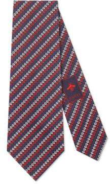 Gucci Square G silk tie