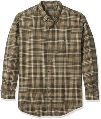 G.H. Bass & Co. Men's Big and Tall Fireside Flannel Plaid Long Sleeve Shirt
