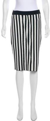 A.L.C. Striped Knit Knee-Length Skirt
