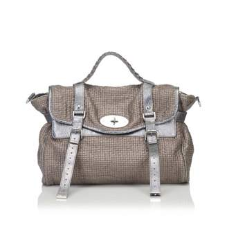 Mulberry Alexa Brown Cotton Handbag