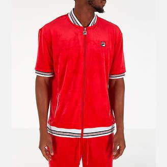 Fila Men's Carezzi Velour Full-Zip T-Shirt Jacket