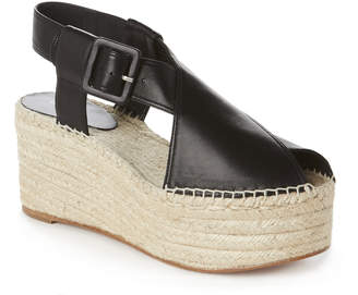 Celine Crisscross Platform Espadrille Sandals