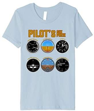 Pilot's Six Pack T-Shirt | Flight Instruments Aviation Shirt
