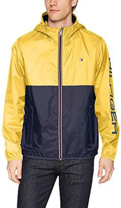 Tommy Hilfiger Men's Colorblocked Logo Rain Slicker Jacket