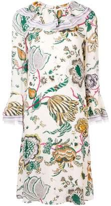 Tory Burch long-sleeve print midi dress