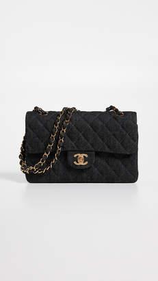 "Chanel What Goes Around Comes Around Black Denim 2.55 9"" Bag"