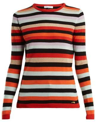 Bella Freud Lolita Striped Wool And Cashmere Sweater - Womens - Multi