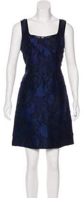 Louis Vuitton Leather-Trimmed Mini Dress