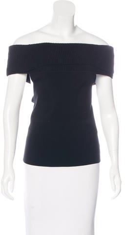 Alice + Olivia Alice + Olivia Off-The-Shoulder Knit Top w/ Tags