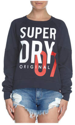 Superdry NEW Sd Dimensional Panelled Crew Navy