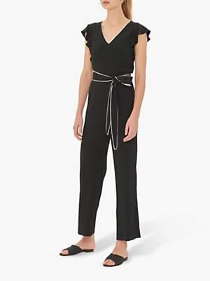 Gerard Darel Tie Waist Jumpsuit, Black